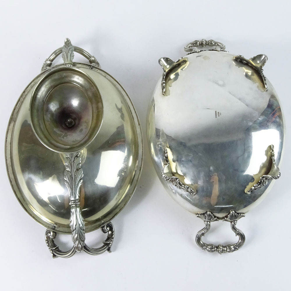 Two Antique German 750 Silver Compotes.