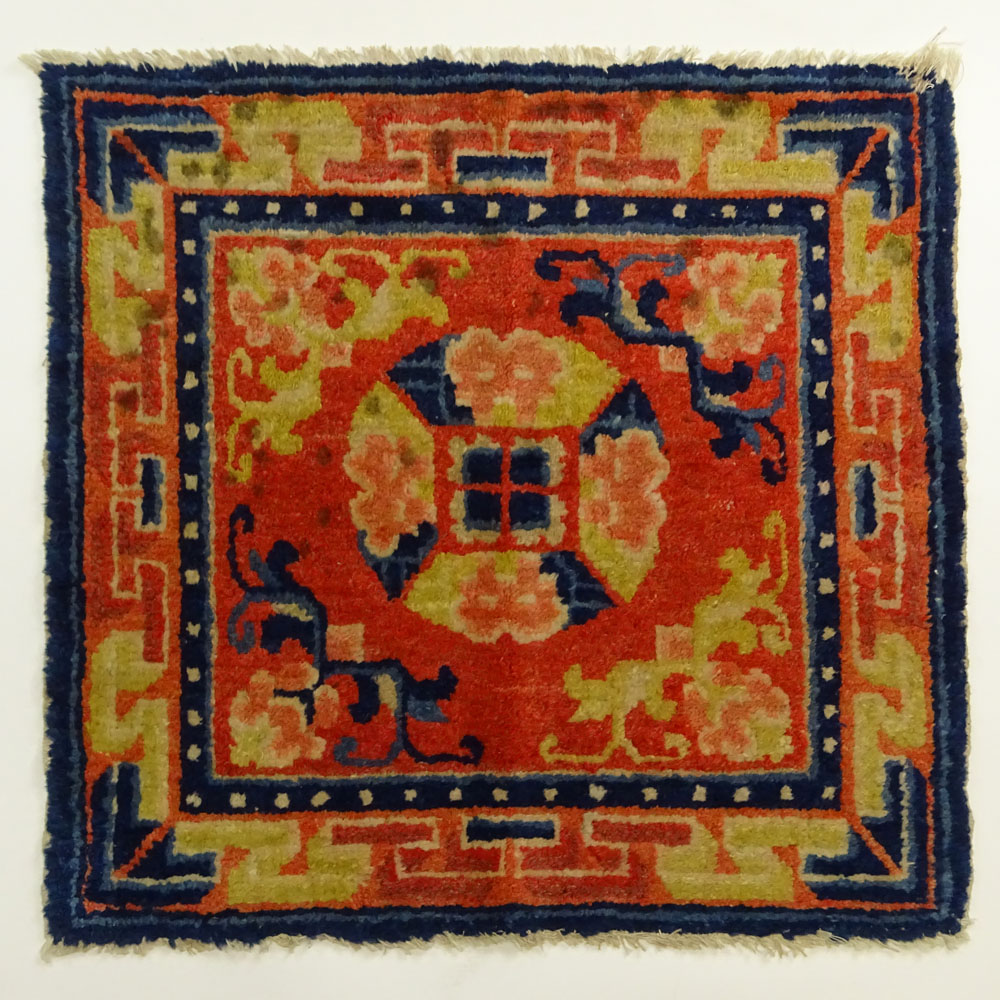 Small Early 20th Century Chinese Wool Rug