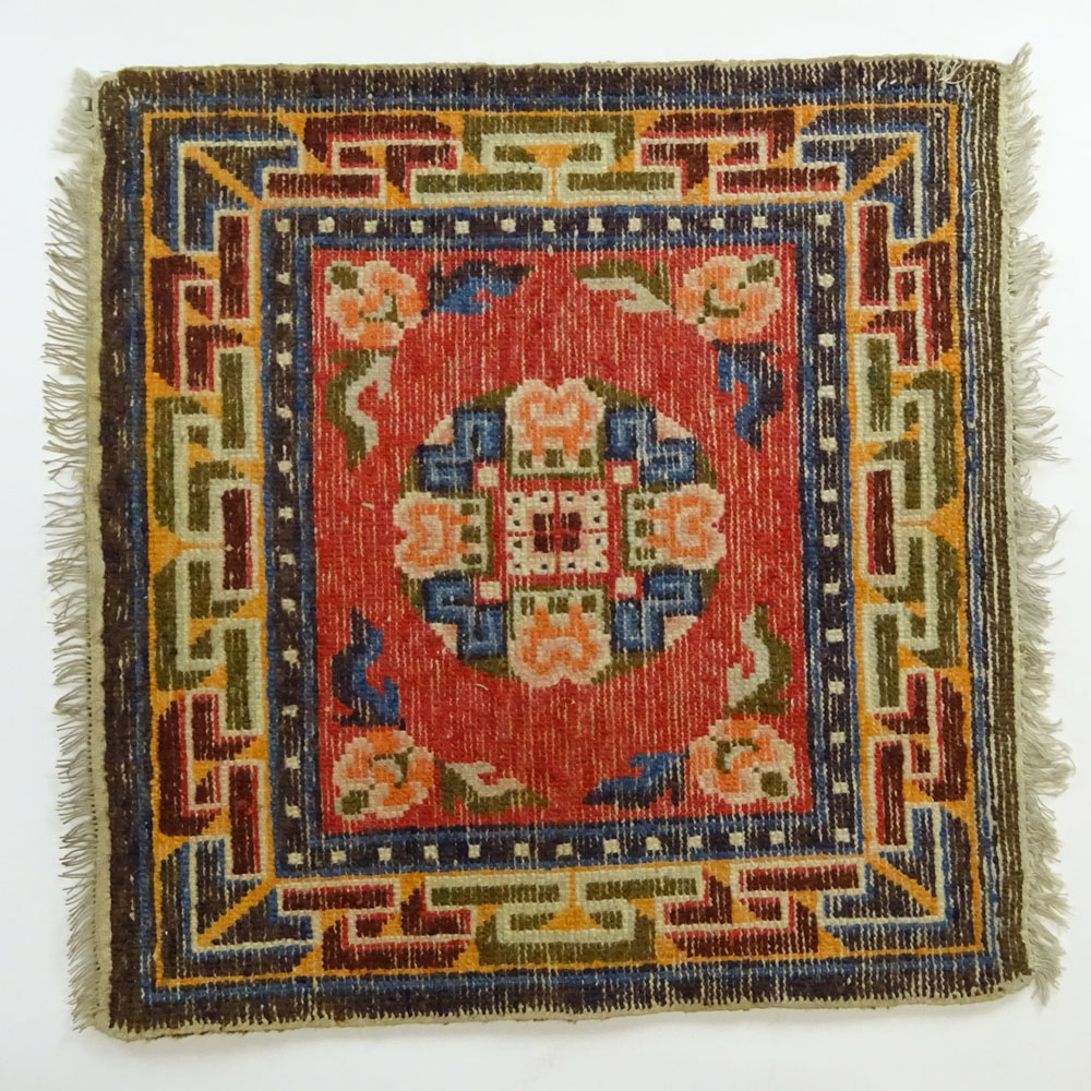 Small Early 20th Century Chinese Wool Rug,