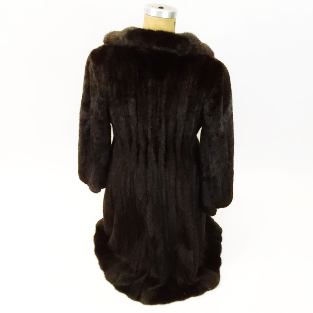 Vintage Black Mink Full Length Swing Coat.