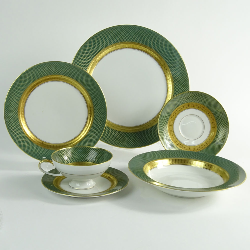Sixty-One (61) Piece Rosenthal Green Grail Partial Dinnerware Set.