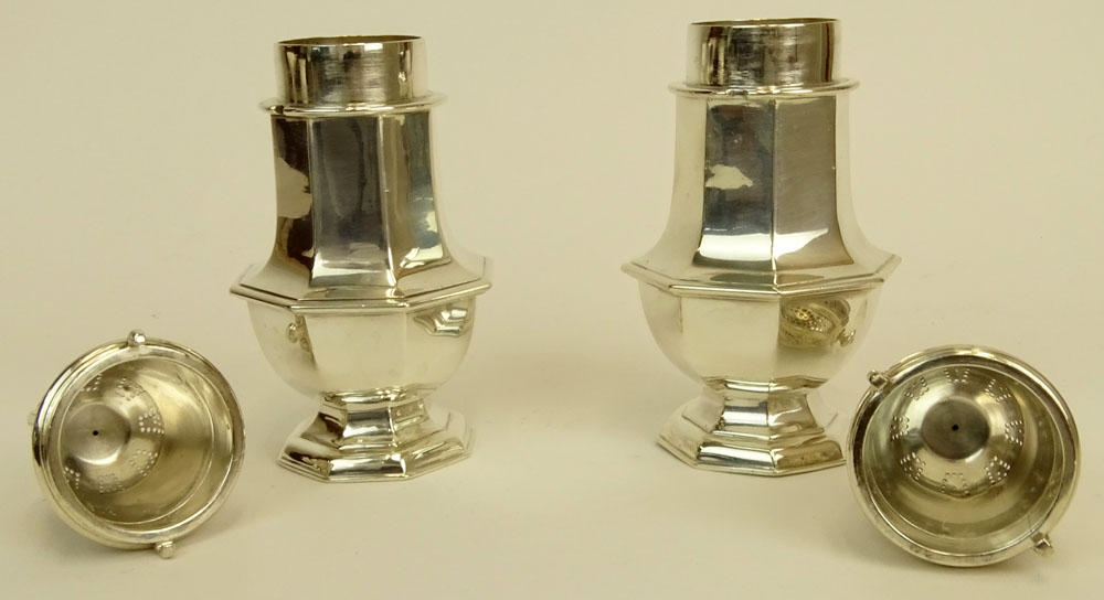 Pair of Antique Tiffany & Co, Sterling Silver Muffineers.