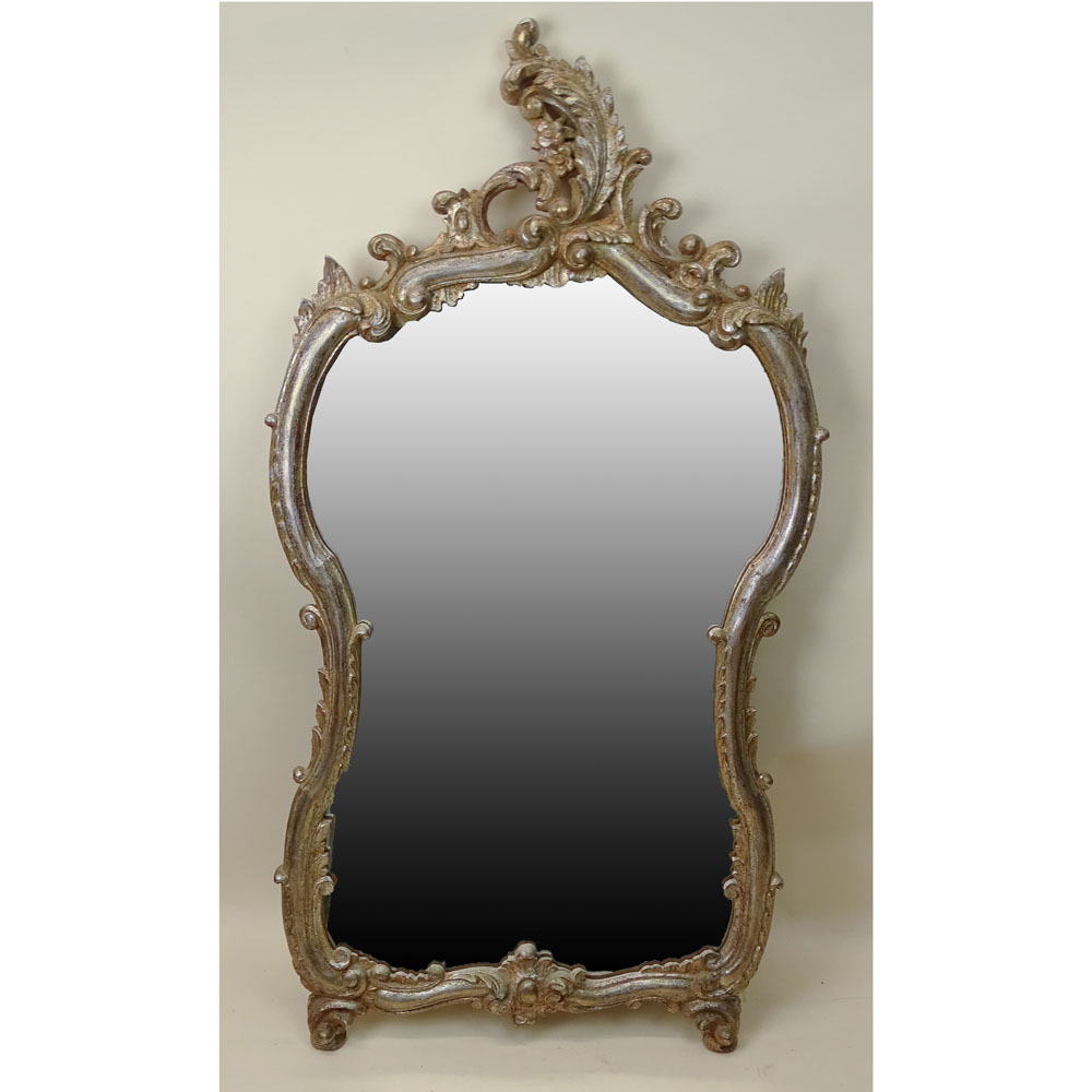 Contemporary Carved Gilt Wood Mirror.