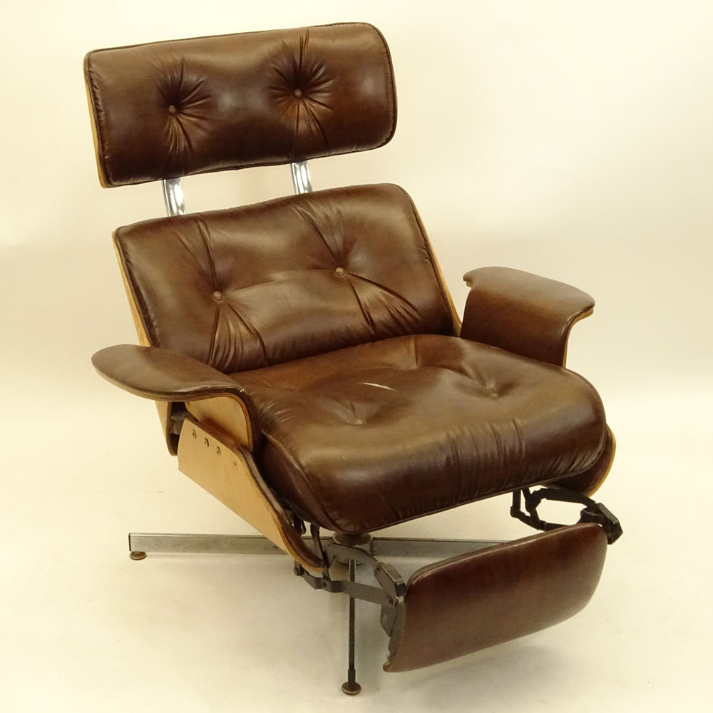 lounge and walnut co uk chair home amazon black premium dp charles leather eames ottoman kitchen recliner by