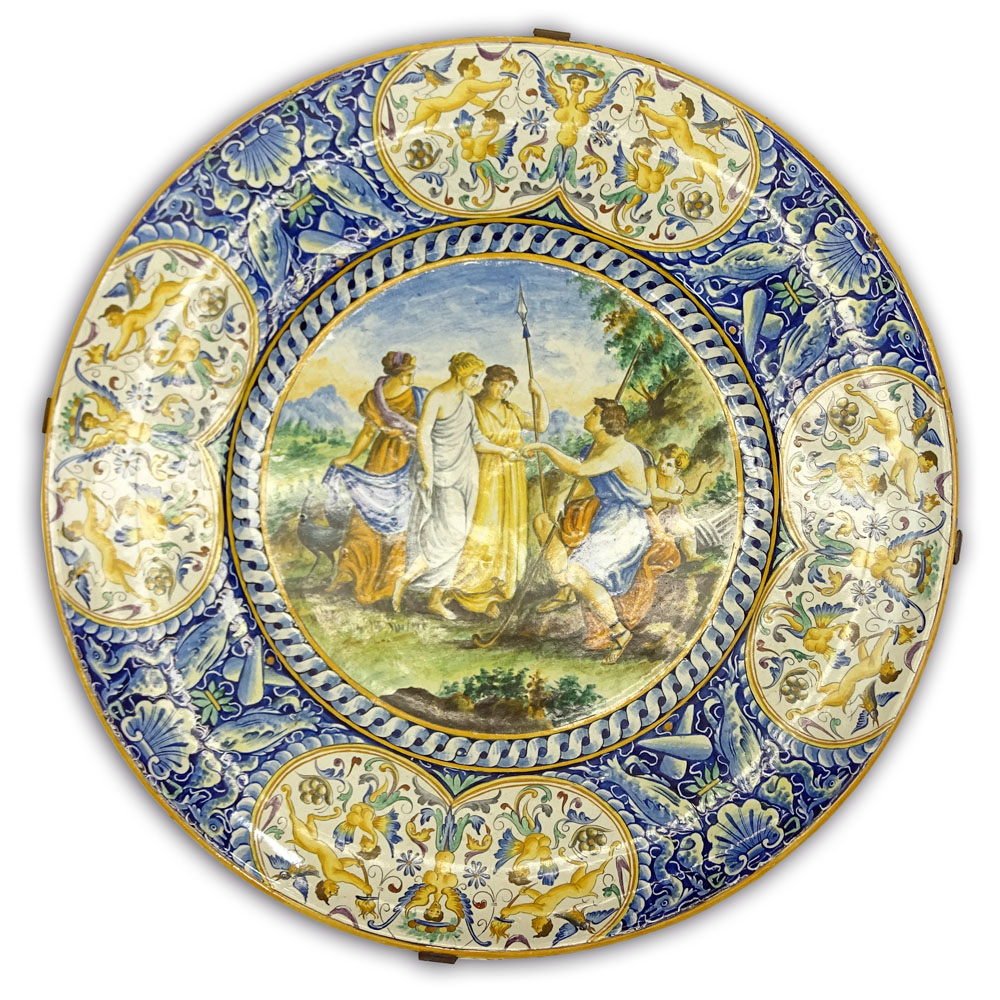 Impressive Early 20th Century Italian Majolica Charger.