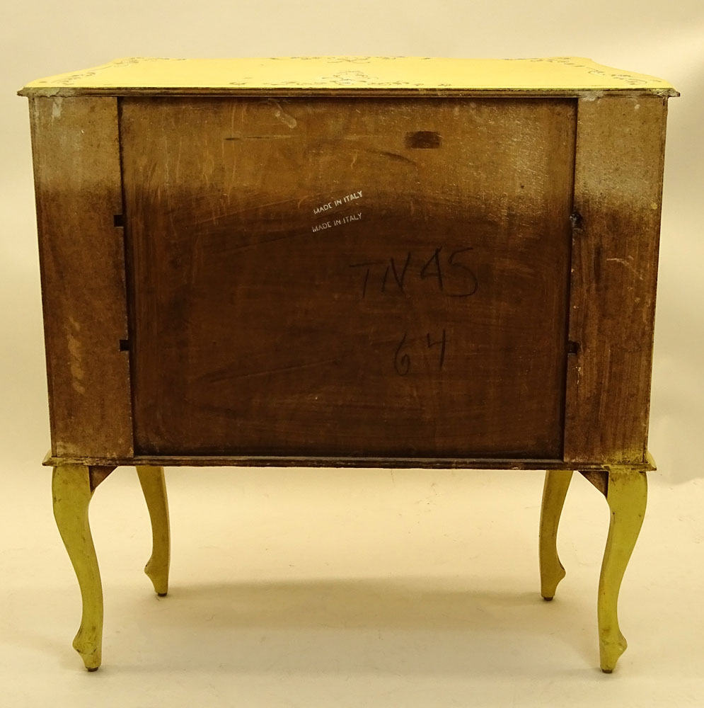 Mid 20th Century Italian Painted Three Drawer Commode.