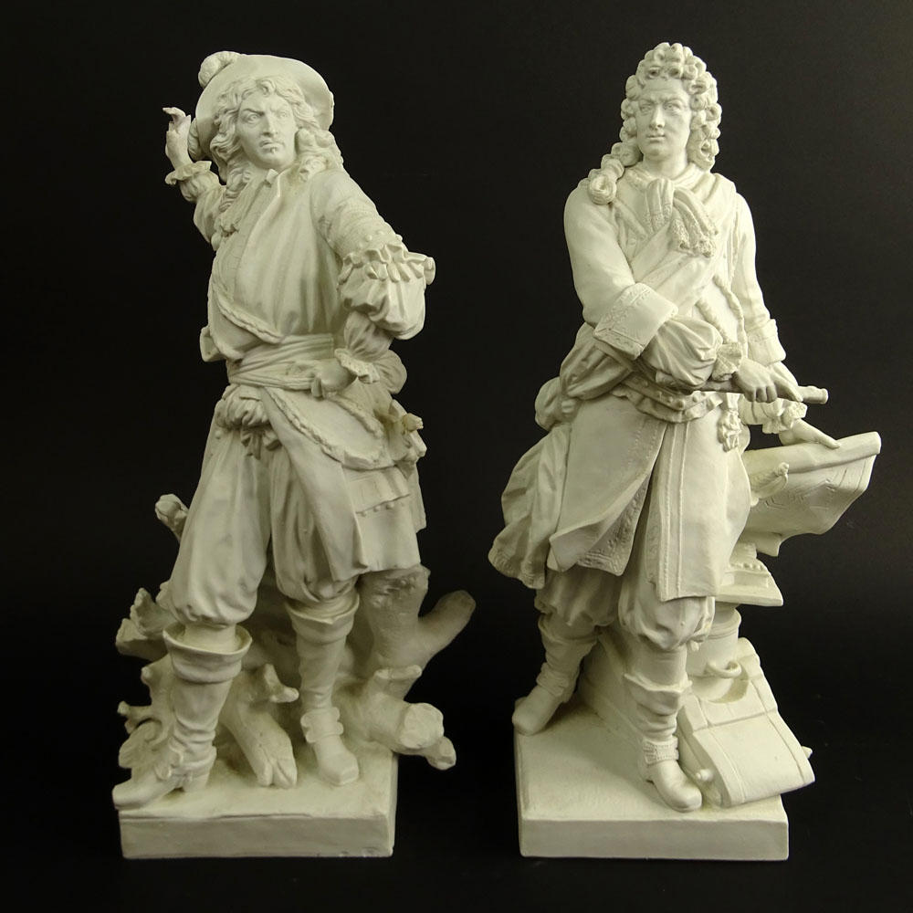 Pair of 19/20th Century French Bisque Figurines.