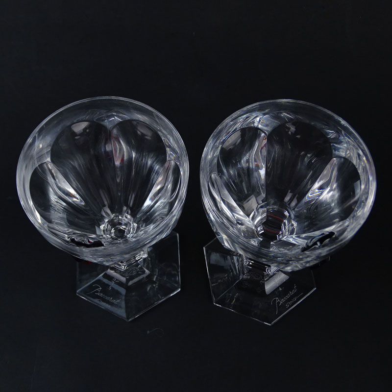 Pair of Baccarat AiE Harcourt Crystal Goblets in Fitted Boxes
