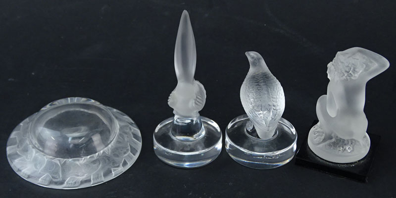 Collection of Four (4) Lalique Crystal Miniatures