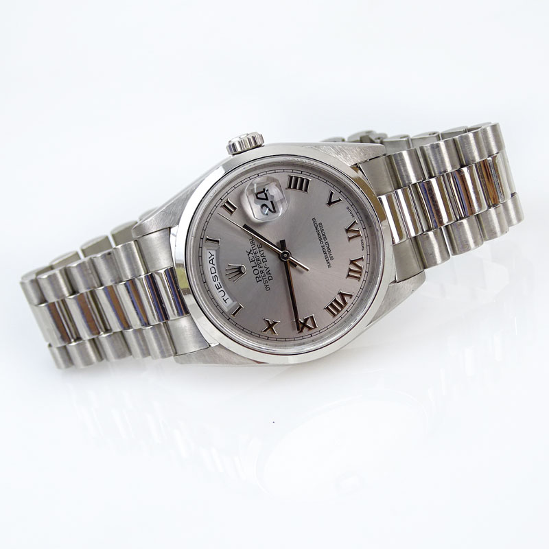 Men's Platinum Rolex Oyster Perpetual Day-Date Chronometer #18206, 8385/6