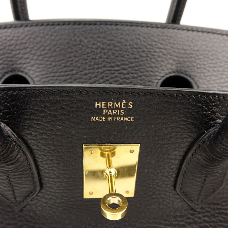 Hermès Black Noir Togo Leather Birkin GHW Bag 35 With Gold Hardware