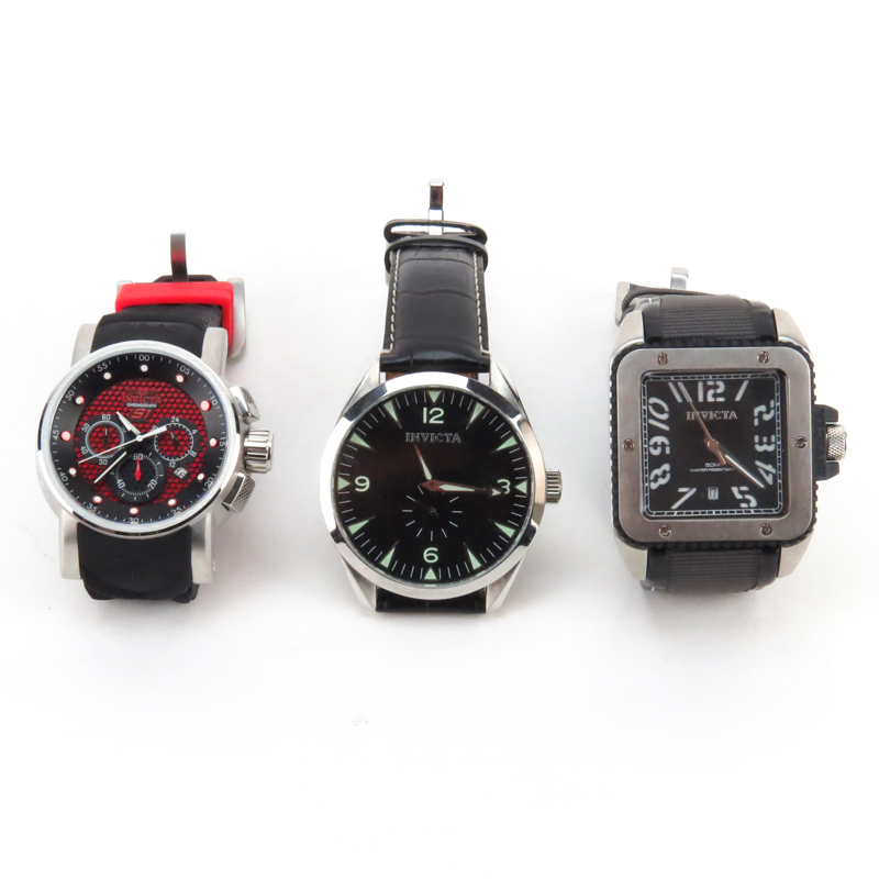Three (3) Men's Invicta Watches