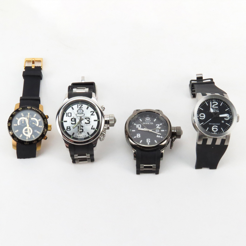 Four (4) Men's Invicta Watches