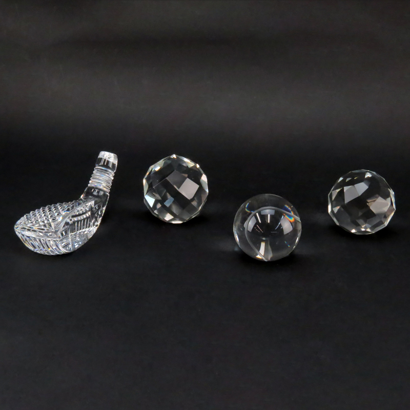 Lot of Four (4) Crystal Paperweights