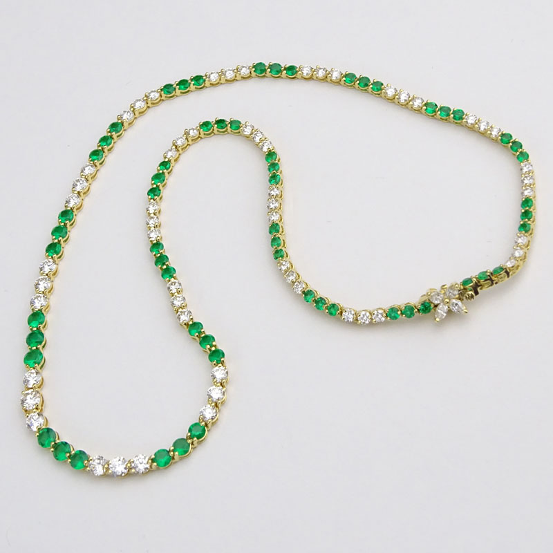 6858501f3 Vintage Tiffany & Co Tennis Necklace. | Kodner Auctions
