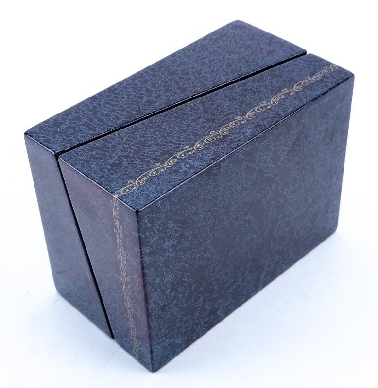 Russian Erotic Lacquered Paper Mache Card Box.   Kodner ...