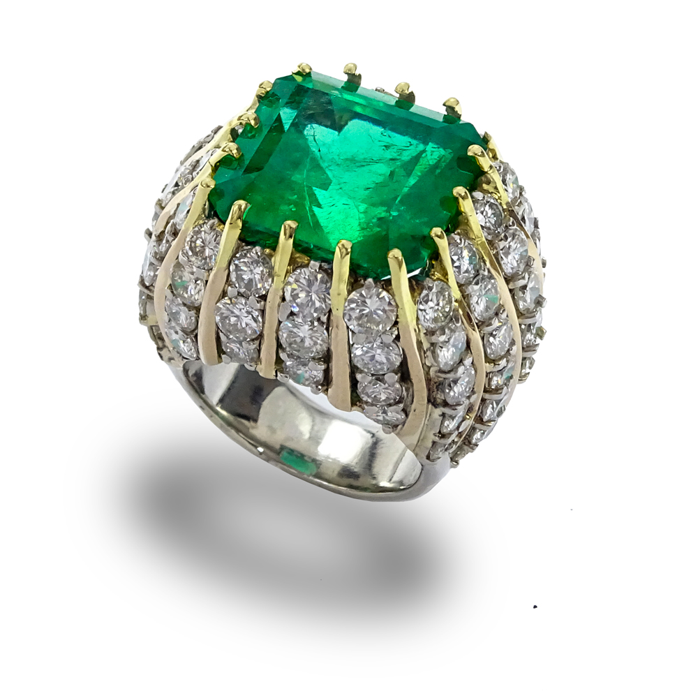 band gold cttw brilliant cut ring emerald wedding white diamond and eternity round