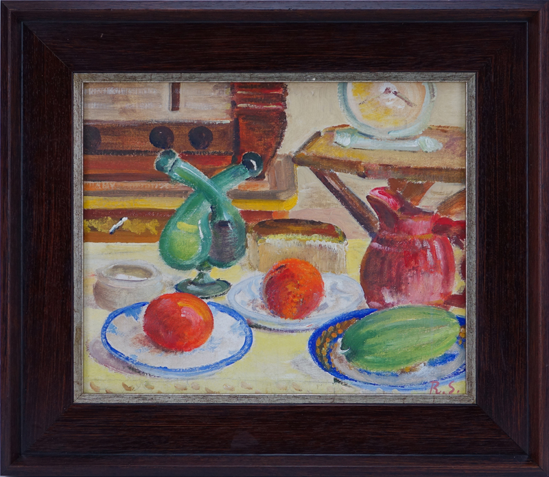 Ragnar Sandberg, Swedish 1902-1972) Oil on Artist Board, Still Life.