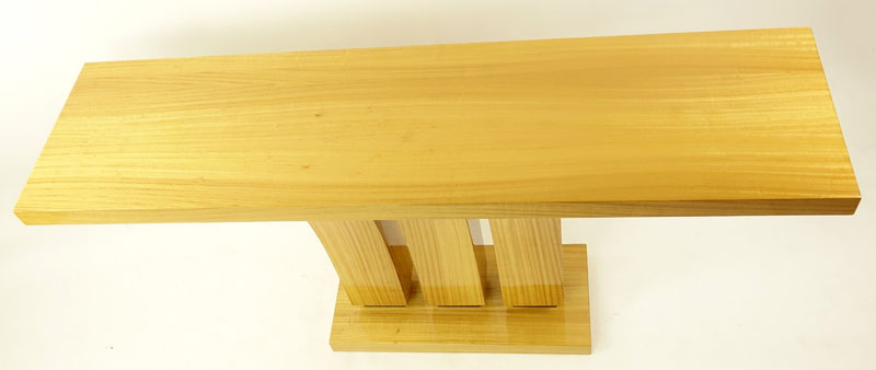 Modern Art Deco Style Satinwood Console Table. Minor Rubbing and scuffs otherwise good condition.