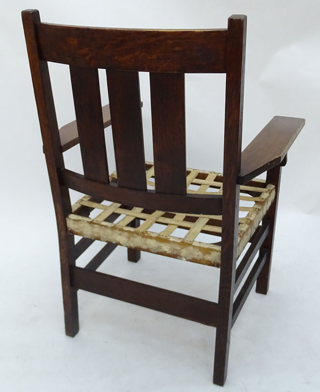 Early to Mid 20th Century L. & J.G. Stickley Style Armchair.