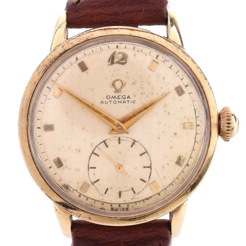 Man's Vintage Omega Automatic Movement Watch with Leather Strap.