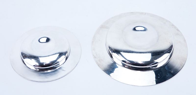 Two (2) Pieces English Silver Table Top Items. Both bowls marked with English Hallmarks and dated 1964, 1970.