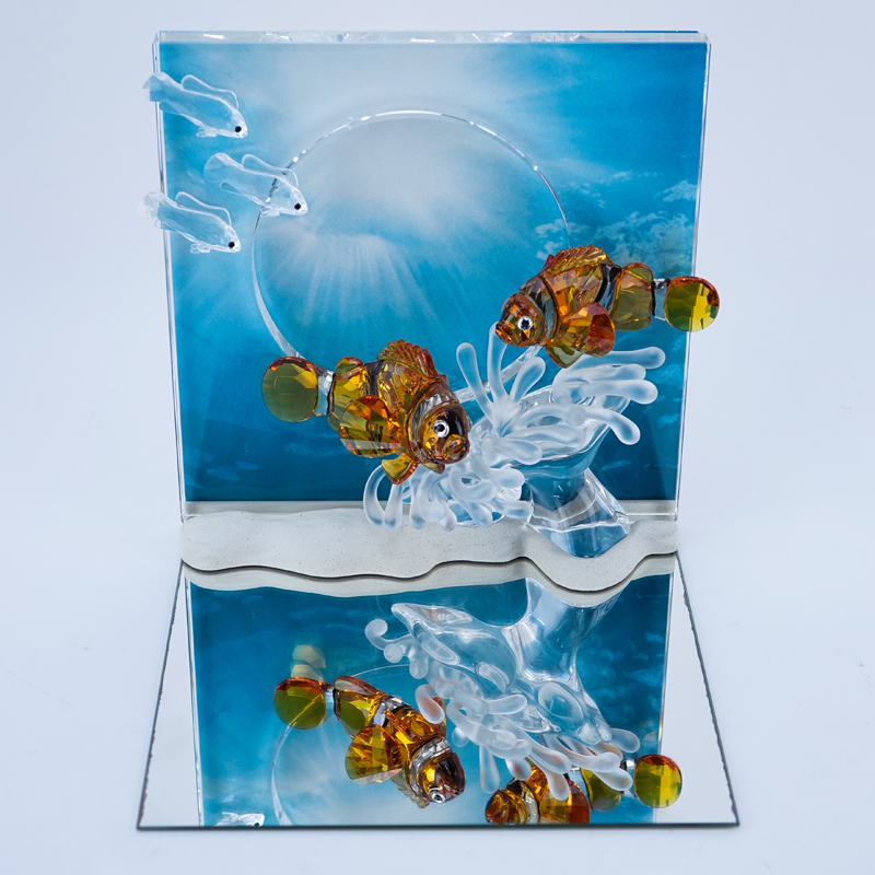 "Swarovski Crystal Wonders Of The Sea ""Harmony"". In original box. Includes display stand, mirror, backdrop and COA."
