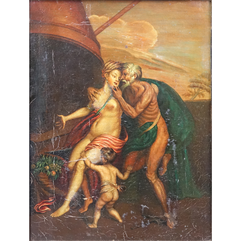 19/20th Century Old Master Style Allegorical Oil On Canvas