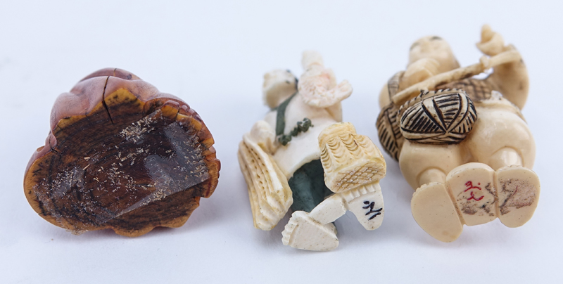 Collection of Five (5) Carved Japanese Ivory Netsuke.