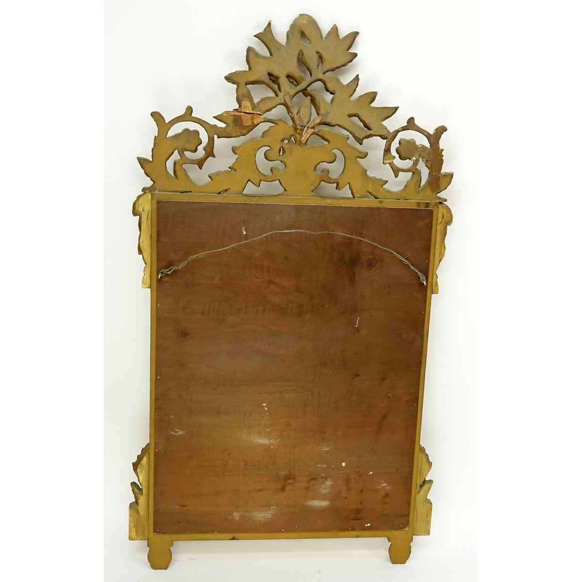 20th Century Carved Gilt Wood Decorative Mirror. Unsigned.