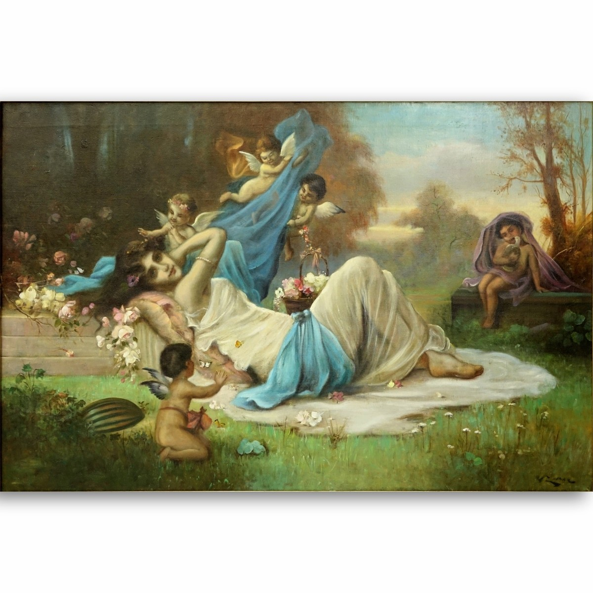 Hans Zatzka, Austrian (1859 - 1945) Oil/Canvas