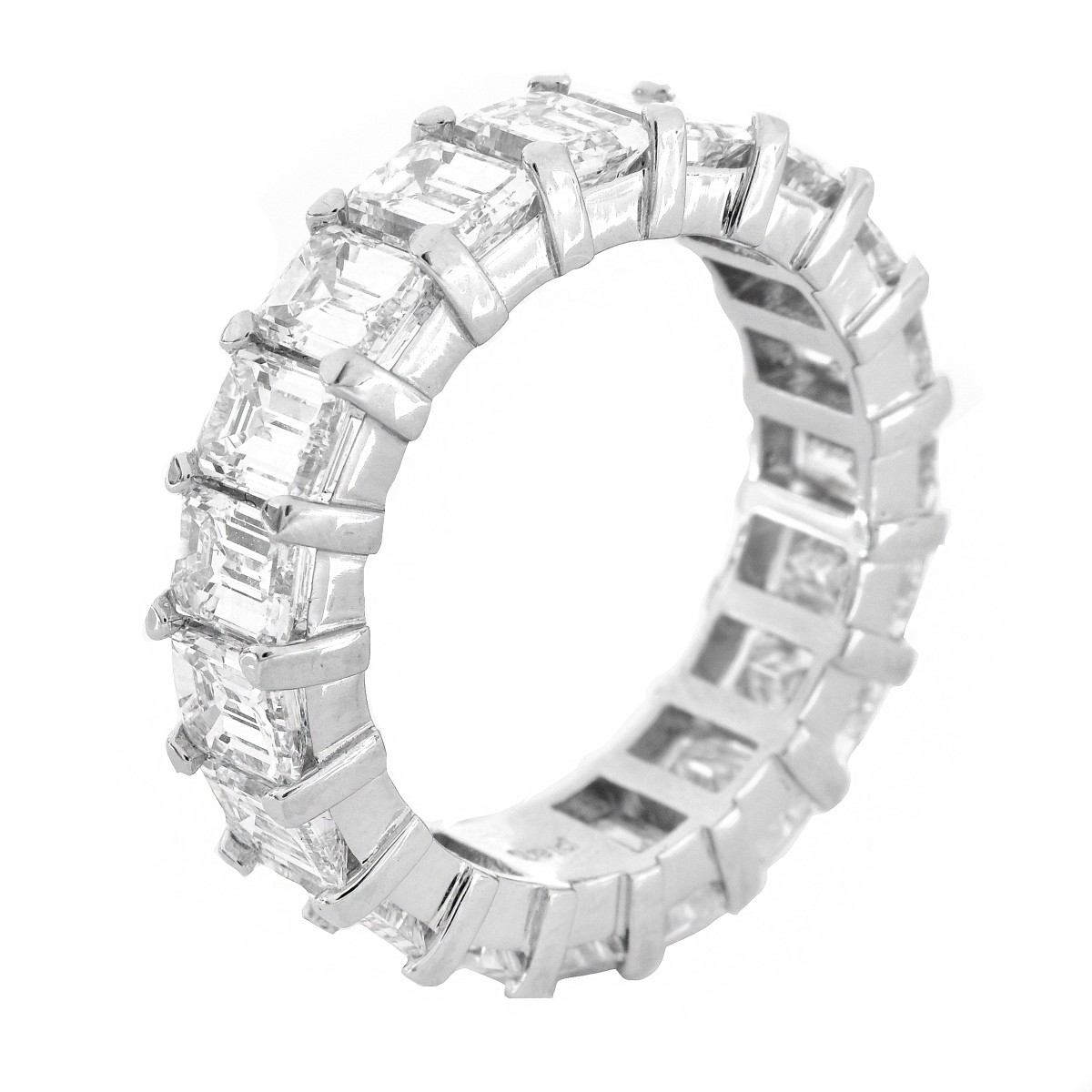 7.0 Carat Diamond and Platinum Eternity Band