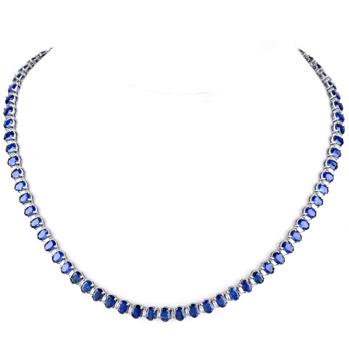 50.0ct Sapphire, Diamond and 18K Gold Necklace