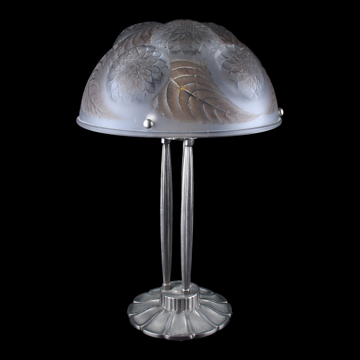 Art Deco Style Lamp with Czech Glass Shade