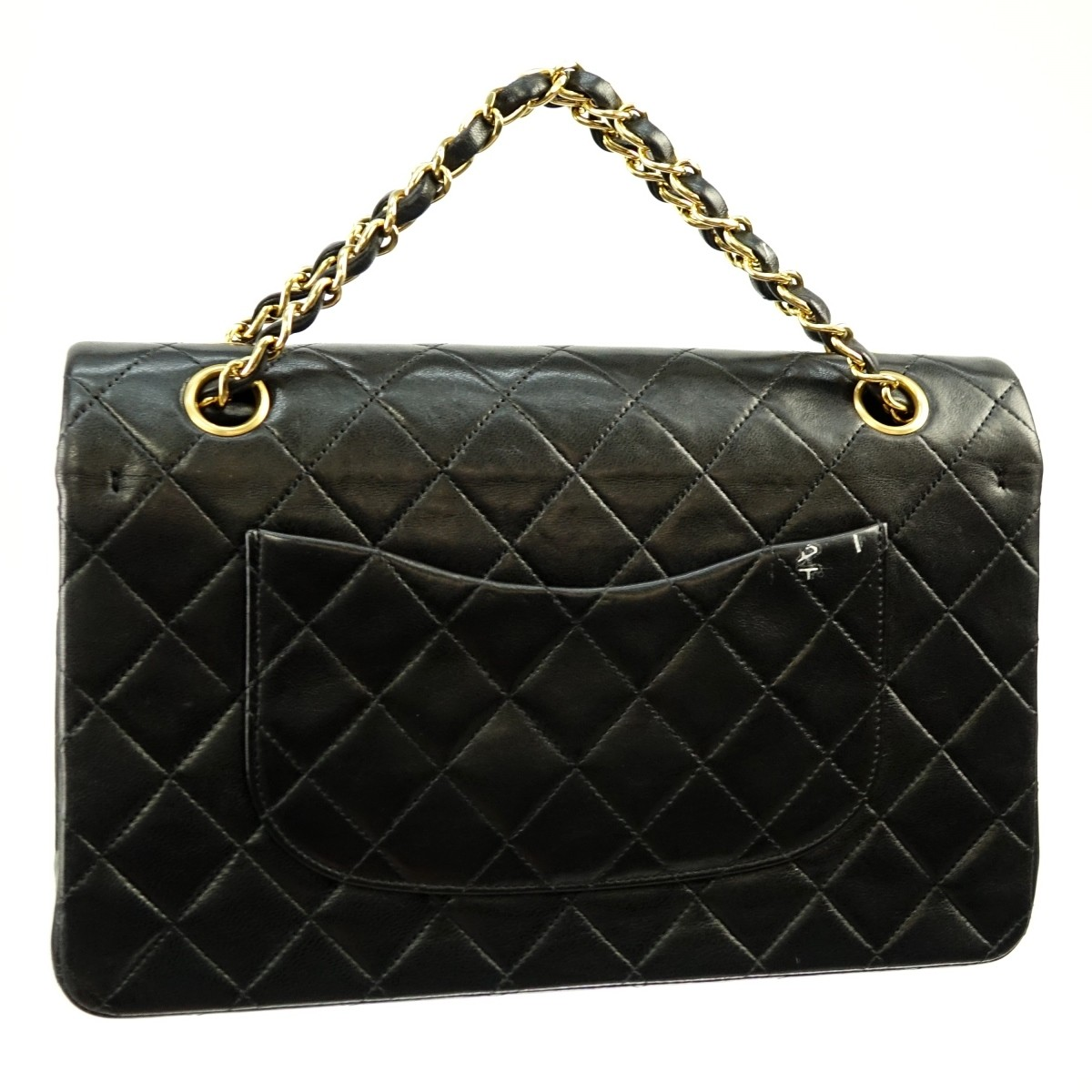 Chanel Black Quilted Leather Double Flap Bag 26