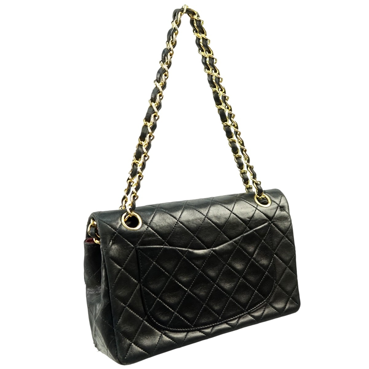 Chanel Black Quilted Leather Double Flap Bag 23