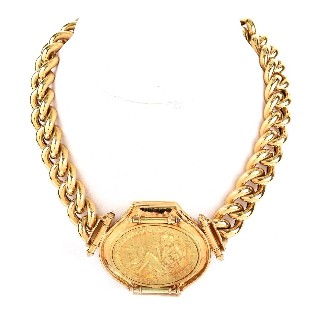 Vintage Italian 18K Gold Link Necklace | Kodner Auctions