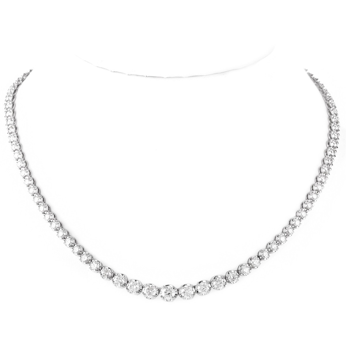 Diamond and 18K Gold Riviera Necklace