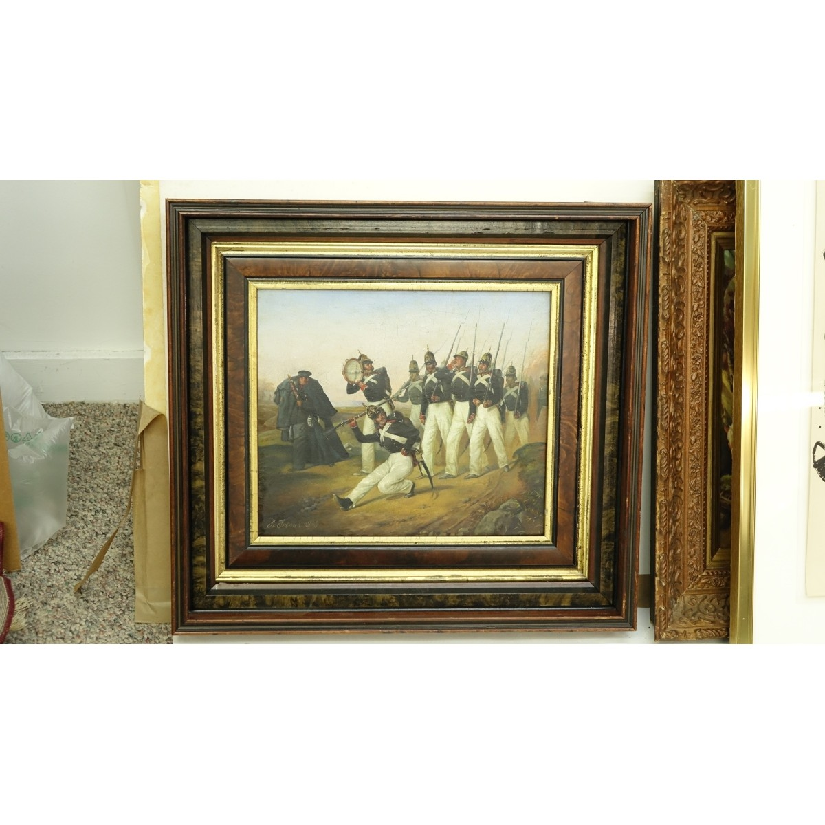After: Adolf Jebens, Russian (1819-1888) Oil/Board