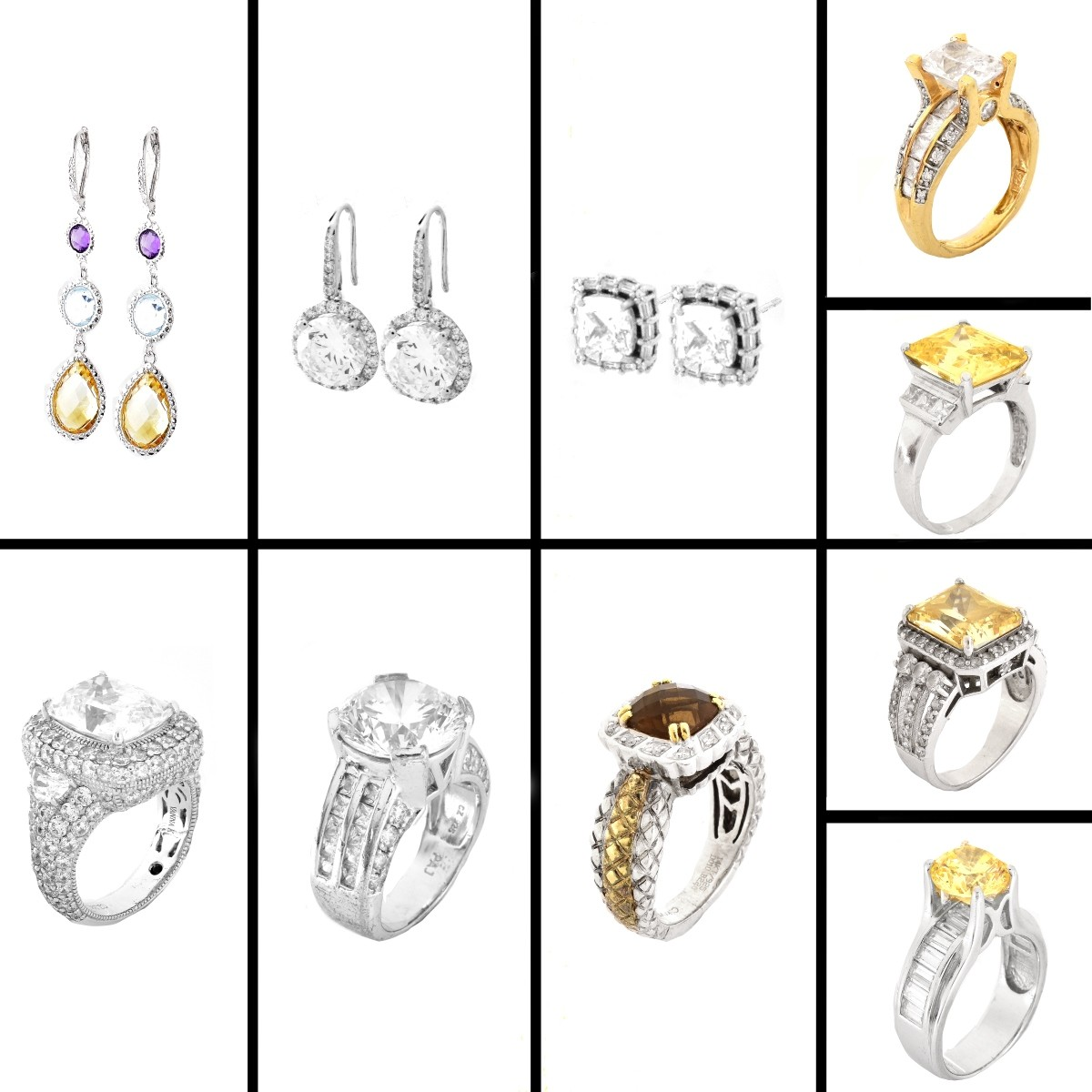 Sterling Silver Rings and Earrings