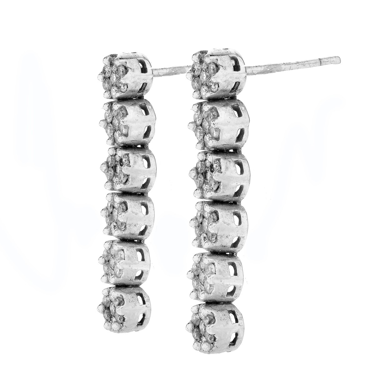 Diamond and 14K Gold Earrings