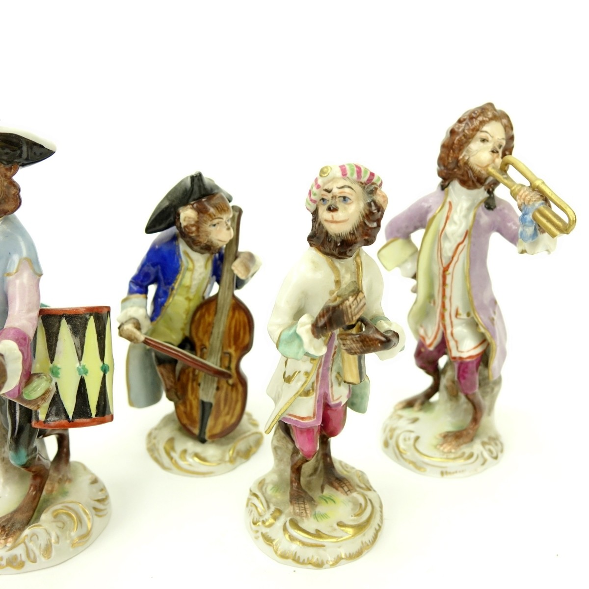 Grouping of Six German and Capodimonte Figurines