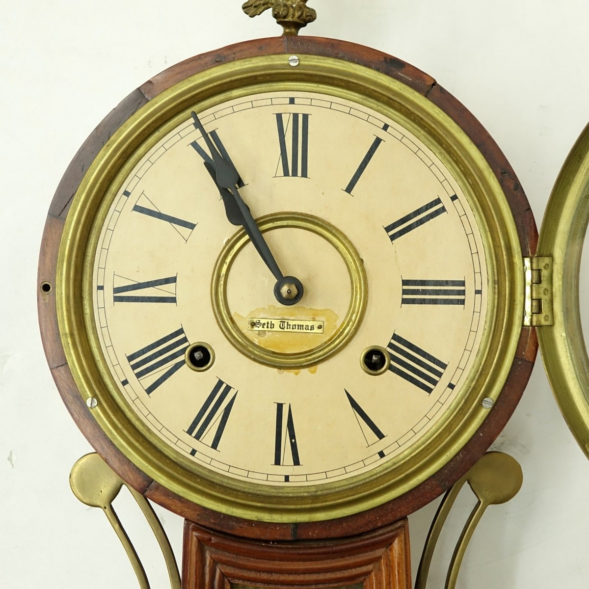 Seth Thomas Banjo Clock with Panels