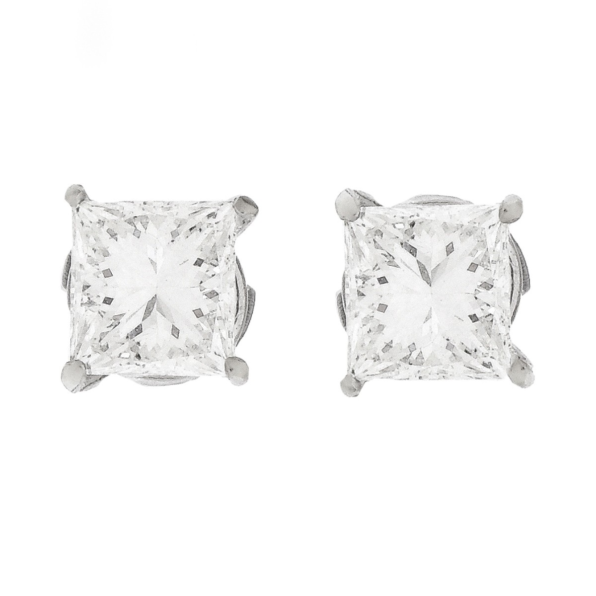 2.29ct TW Diamond and 14K Gold Ear Studs