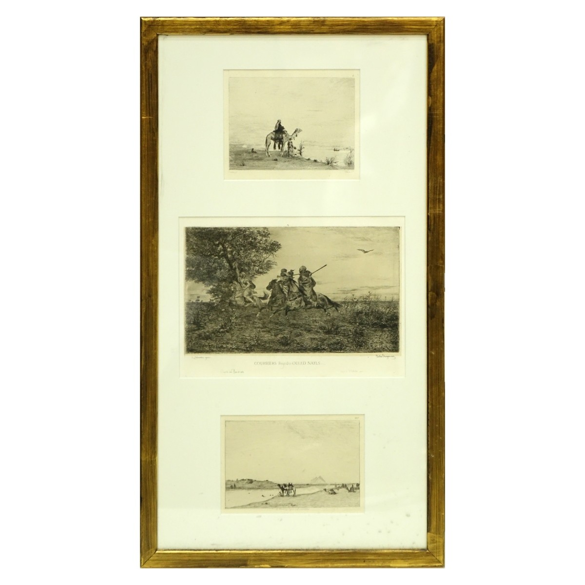 After: Eugene Fromentin (1820-1876) 3 Etchings