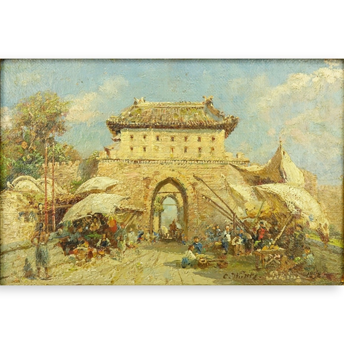 "Carl Wuttke, German (1849-1927) O/B ""Peking"""