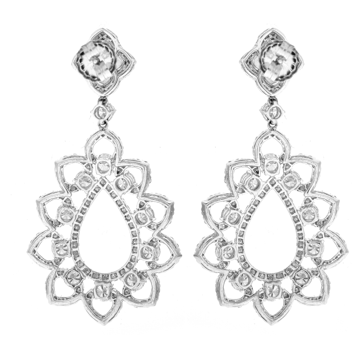 Diamond and 18K Gold Earrings