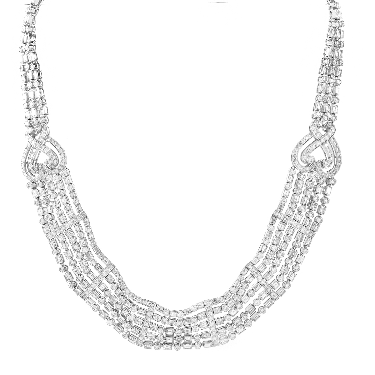 30.50ct Diamond and 18K Gold Necklace