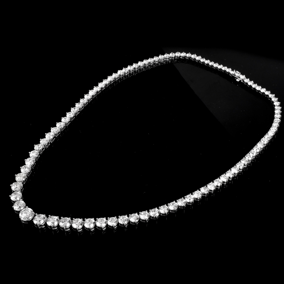 50.0ct TW Diamond and 18K Gold Necklace