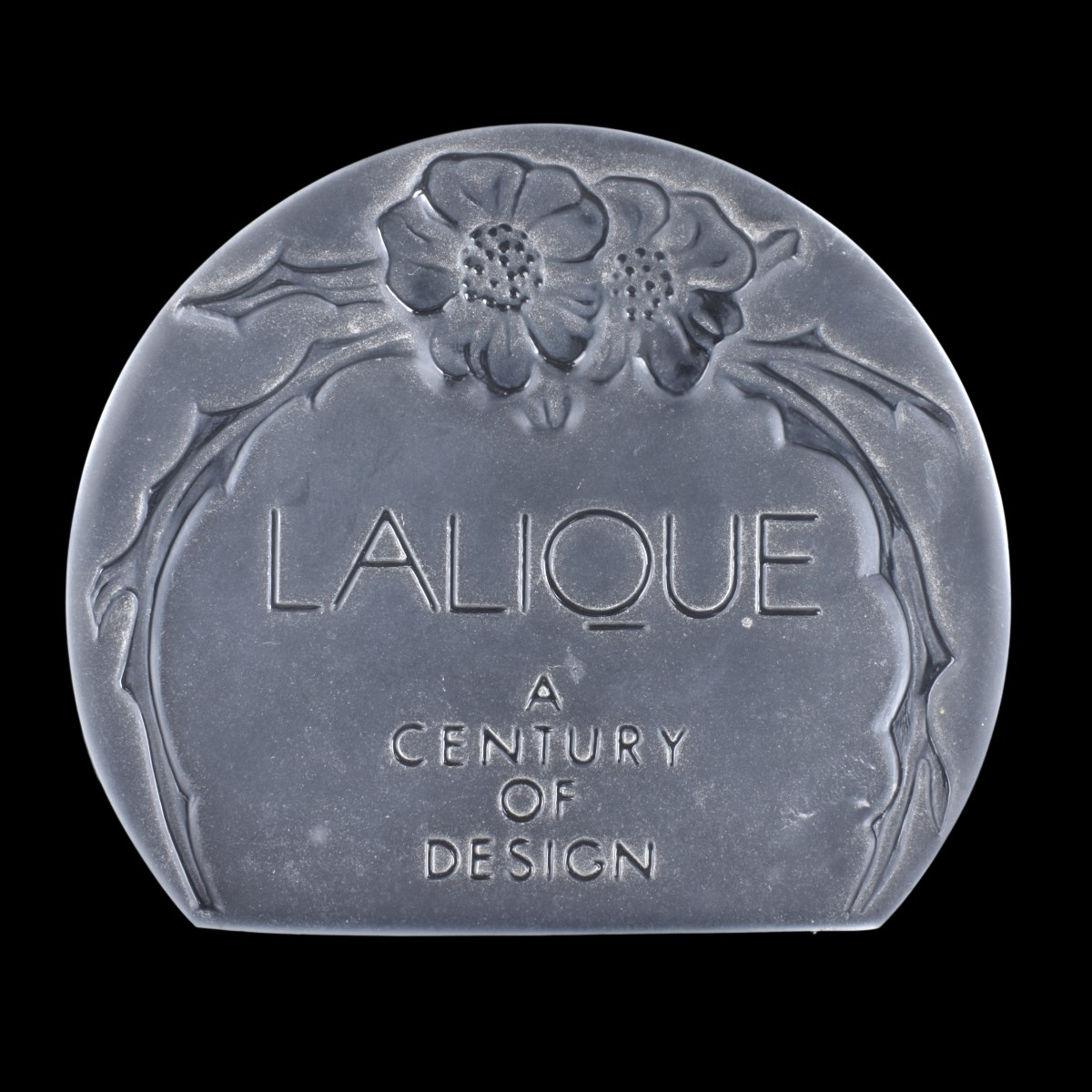 Lalique Crystal Bottle and Lalique Crystal Plaque